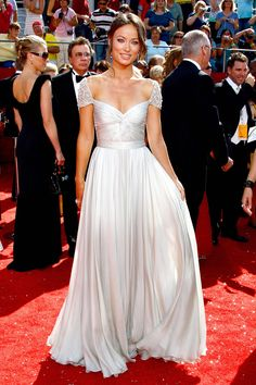 Olivia Wilde | Reem Acra | 100 Best Red Carpet Dresses of All Time - Most Iconic Red Carpet Looks - Harper's BAZAAR