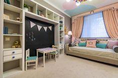 Сказочный город в интерьере детской комнаты (дизайнер Анна Ткаля)