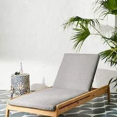 Anthropologie Neptune Indoor/Outdoor Lounge Chair By Anthropologie in Grey Size ALL