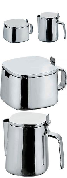 Cream and Sugar 103434: Alessi Kristiina Lassus Design Series Stainless Steel Sugar Bowl And Creamer Set -> BUY IT NOW ONLY: $127.95 on eBay!