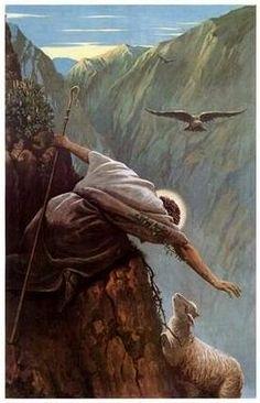 Artistico - Pastor sempre acha a ovelha perdida e em perigo