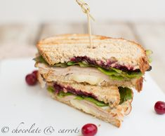 Homemade Cranberry Chipotle Jam on a #Thanksgiving & Brie Panini #sandwich #omg #sweetandspicy