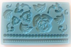 Rose Flower Fondant Gum Paste Silicone Mold by WhysperFairy, $12.95