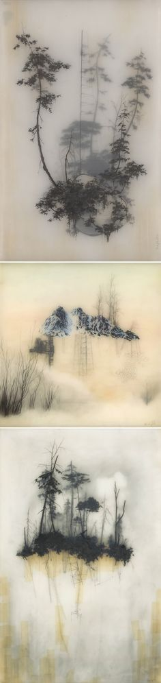 brooks salzwedel via the jealous curator. layers of resin and graphite.
