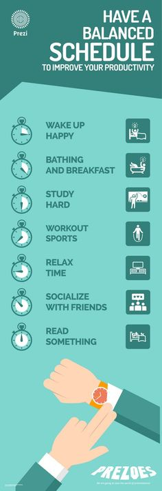 Have a Balanced Schedule - Basic things everyone can do to improve their health and fitness in manageable ways