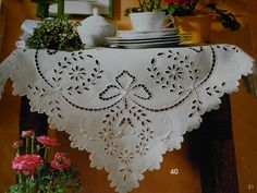 my kind of cloth Tambour Embroidery, White Embroidery, Hand Embroidery Designs, Embroidery Stitches, Embroidery Patterns, Machine Embroidery, Diy Scarf, Cut Work, Crochet Tablecloth