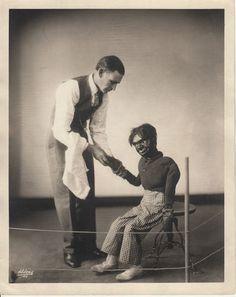 Original Vintage SIDESHOW Ventriloquist and Dummy 8 x 10 1934 CARNIVAL Freak old