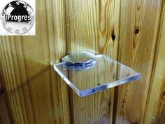 "Wall Clear Acrylic Plexi-Glass Square Shelf Organizer Holder Stand 5.0""X5.0"""