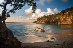 Little Bay, a secluded beach that draws snorkelers and is the setting for sunset cruises. Credit Chris Carmichael for The New York Times - What to Do in Anguilla