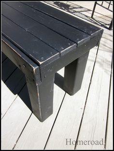 DIY Farmhouse Bench ... I WANT TO MAKE!