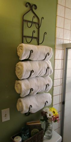 wine rack becomes towel rack!