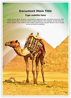 Pyramids Camel Word Document Template is one of the best Word Document Templates by EditableTemplates.com. #EditableTemplates #PowerPoint #templates #Wildlife #Egyptian #Cairo #Giza #African #Wild #Desert #Animal