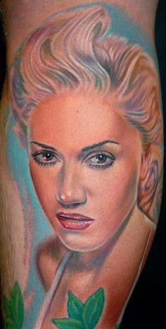 Gwen Stefani Tattoo by Nikko Hurtado