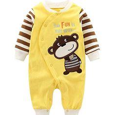 441d4bdcb1 Minizone Recién Nacido Pijama Bebés Algodón Mameluco Niñas Niños Peleles  Sleepsuit Caricatura Trajes  Ropa