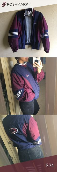 Vintage adidas color block windbreaker size medium In great vintage condition. Size: women's medium. PRICE FIRM. adidas Jackets & Coats