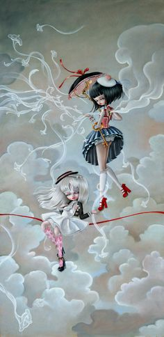 Kai Fine Art is an art website, shows painting and illustration works all over the world. Art And Illustration, Fantasy Kunst, Fantasy Art, Mark Ryden, Lowbrow Art, Gothic Art, Whimsical Art, Surreal Art, Beautiful Artwork