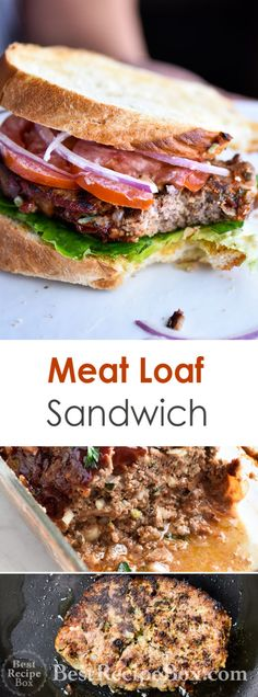 Meatloaf sandwich recipe using leftover meatloaf. Our best meatloaf recipe is easy and great for making leftover meatloaf sandwich recipe for lunch Juicy Meatloaf Recipe, Meatloaf Sandwich, Best Meatloaf, Meatloaf Recipes, Meat Recipes, Healthy Recipes, Healthy Salads, Yummy Recipes, Delicious Desserts