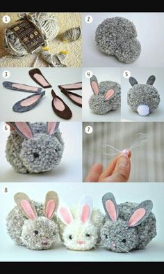 Kids Discover Trends: Pom pom - Me (Lele) he and the kids crafts for kids for teens to make ideas crafts crafts Kids Crafts Cute Crafts Craft Projects Arts And Crafts Bunny Crafts Craft Tutorials Cute Diys Rabbit Crafts Easter Crafts For Adults Kids Crafts, Bunny Crafts, Cute Crafts, Diy And Crafts, Craft Projects, Projects To Try, Craft Tutorials, Rabbit Crafts, Crafts With Yarn