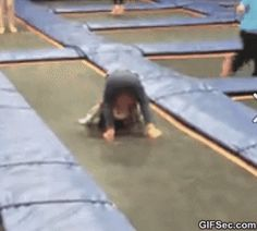 GIF: Daughter sees gymnasts doing front flips… Nailed it - www.gifsec.com