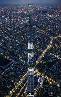 The Tokyo Skytree is a broadcasting & observation tower and the largest structure in Japan at 634 meters.
