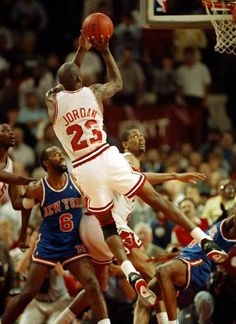 Your Airness performing his nasty fade away, too nasty.