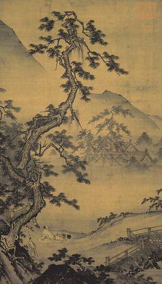 Ma Yuan, Pine Moon (?) - tree