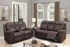 Madera Leather Power Sofa & Loveseat – Katy Furniture