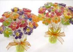 Lembrancinha e decoração de festa infantil: Flor de bala de goma (jujuba) - Almanaque dos Pais