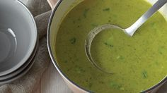 Try our Classic Broccoli Soup, the ultimate comfort food when the weather starts to get colder. Get this recipe from Sobeys. Broccoli Soup, Guacamole, Stew, Good Food, Appetizers, Cooking Recipes, Lunch, Homemade, Meals