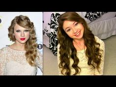 How To Get Taylor Swift's Curls Without Heat... the curlers she uses look so easy to use, as does the whole tutorial.