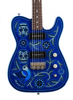 Creston...this guitar is very intriguing...I was mesmerized by the design...artwork, pickups and color....yes...yes indeed