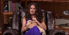 Salma Hayek And Jimmy Fallon Playing A Trivia Game With Puppies Will Make Your Day