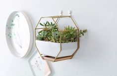 Mkouo petit octogonale Hanging Mirror MACRAME Chic Wall Decor