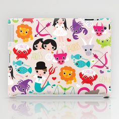 Some fashionable inspiration and new trends for your online birthday or christmas shopping spree. Zodiac and horoscope illustration theme iPad Case by Little Smilemakers Studio - $60.00