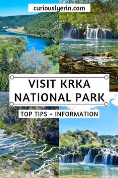 Visit Krka National Park during your trip to Croatia. Easily accessed from anywhere in the country. This Croatian National Park needs to be on your bucket list. Experience stunning blue green waters, cascading waterfalls and travertines Khao Sok National Park, Yoho National Park, Plitvice Lakes National Park, National Parks Map, National Park Posters, Krka National Park Croatia, Arcadia National Park, Guadalupe Mountains National Park, Petrified Forest National Park
