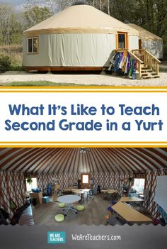 Check out these yurt classrooms at a public school in Wisconsin. These teachers share what it's like to teach in these outdoor structures. Teaching Second Grade, 2nd Grade Teacher, Outdoor Education, Outdoor Learning, Private School, Public School, Learning Environments, Science Lessons, Science And Nature