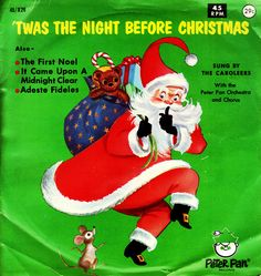 Peter Pan 45 Christmas Record - Twas the Night Before Christmas by texassurlymonkey, via Flickr