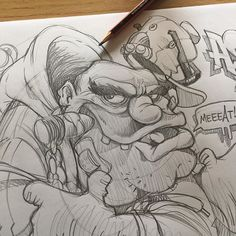 54 Pencil Drawing Of Cartoon People Ideas - Art Graffiti Artwork, Graffiti Drawing, Graffiti Lettering, Graffiti Cartoons, Graffiti Characters, Prison Drawings, Cool Drawings, Drawing Cartoon Faces, Cartoon Art