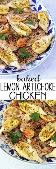 Bright and briny flavors are captured in these chicken breasts baked with artichoke hearts, capers, whole garlic cloves, Parmesan cheese and lemon slices plus a big glug or two of extra-virgin olive oil to help all the flavors shine.