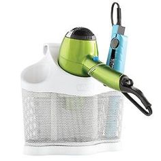 The Container Store - Style Station Organizer for hair dryer, curling iron and flat iron.