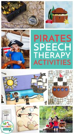 Pirate Themed Speech Therapy Activities Value Bundle - Use this page resource with your preschool, Kindergarten, or grade students. It's great to practice vocabulary and speech therapy in September for Speech Therapy Themes, Speech Language Therapy, Speech And Language, Music Therapy, Pirate Day, Pirate Theme, Teaching Vocabulary, Preschool Kindergarten, Pirate Activities
