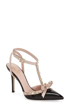 Crushing on these Kate Spade pumps with polished crystals that illuminate and sparkle on this sophisticated silhouette. Even an adorable bow to add a feminine touch.