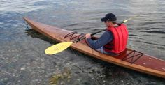 Shearwater 16 Sea Kayak: Medium-Volume Greenland-style Kayak with Sapele Decks!