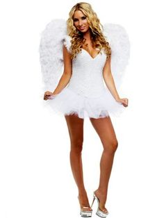 Signature White Angel Elite Deluxe Sexy Costume | Wholesale Angels Halloween Costumes for Sexy