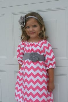 Bubble Gum Peasant Dress 2T6T by sunshinecreated on Etsy, $35.00