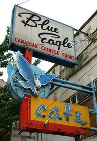 "Vintage Vancouver neon sign - the eagle portion was on display at ""Ugly Vancouver/Neon Vancouver"" in 2012 at the Museum of Vancouver."