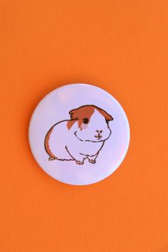 Cute guinea pig pin Cute Guinea Pigs, Special Occasion, Etsy Seller, Unique, Creative, Fun, Crafts, Crafting, Diy Crafts