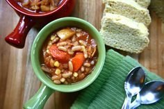 Fall Harvest Stew - easy to prepare, makes a huge batch and is perfect for pairing with cornbread. Hello, fall! Bob's Red Mill