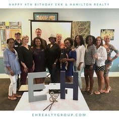 Happy 4th Birthday Ekk & Hamilton Realty! 🎂  Celebrating family, teamwork, growth & community. So proud to be amongst these hard-working, loving people who make our firm one of the Best In Tally.  #FamilyFirst #GrowEHFamily #WeHave19KidsPlusPrince #4ThYearAndCounting