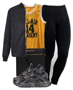 """""""uglay"""" by amaiah14 ❤ liked on Polyvore featuring Yummie by Heather Thomson, MICHAEL Michael Kors, Acne Studios and NIKE"""